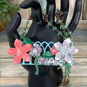 ⭐️Adorned Crown GROW Fence floral garden necklace